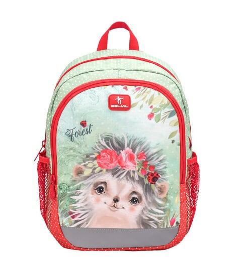 Ghiozdan de gradinita  BELMIL Kiddy Plus Animal Forest Hedgehog 0