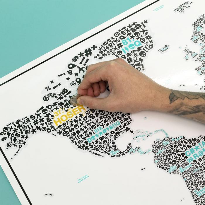 "Harta razuibila Editia "" F*#?ING WORLD "" - produs original Luckies London 1"
