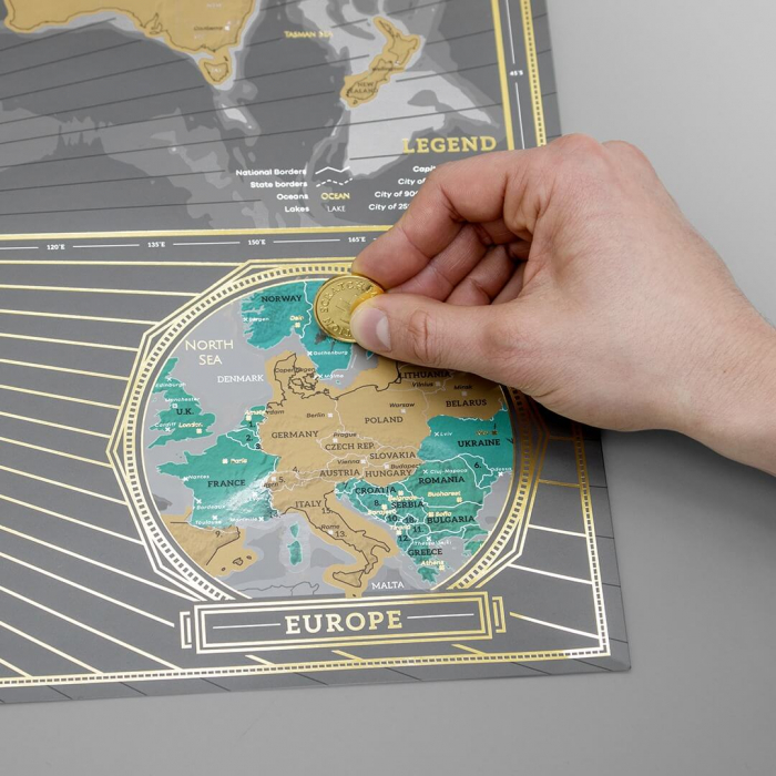 Harta razuibila Editia X Aniversara - produs original Luckies London 1