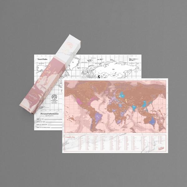Harta razuibila Rose Gold 2