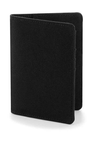 Husa pasaport material textil - Negru 0