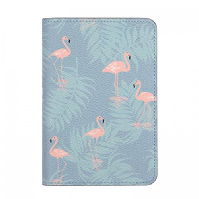Husa pasaport/ Coperta Pasaport - Flamingo 0