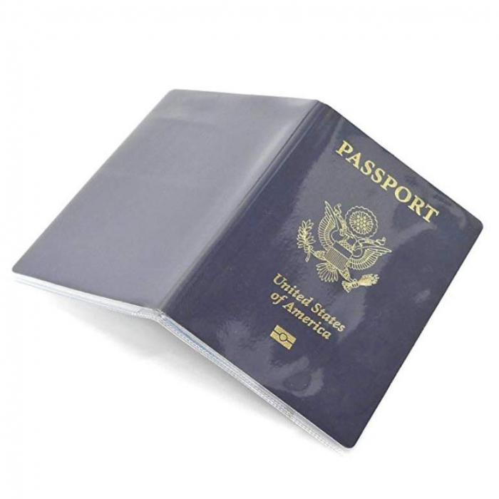 Husa pasaport/ Coperta Pasaport - Transparent mat 1