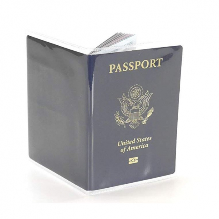 Husa pasaport/ Coperta Pasaport - Transparent mat 0