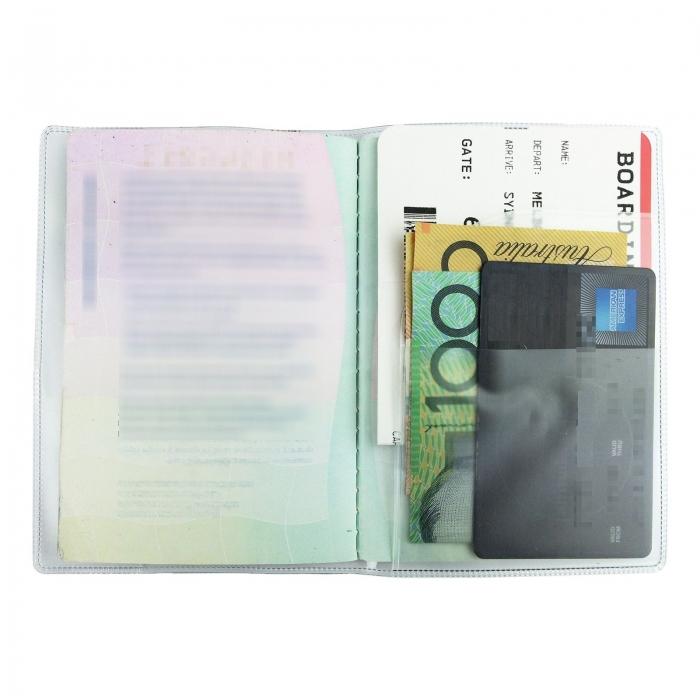 Husa pasaport/ Coperta Pasaport - Transparent mat 2