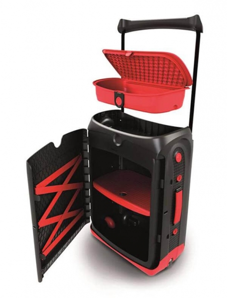 Valiza TRUNKI Jurni Magma Red 2