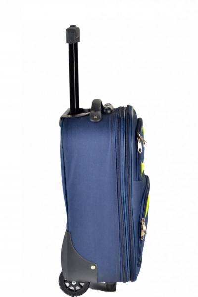 Klept Troler textil 2 roti FLY-42 Albastru cu verde 0