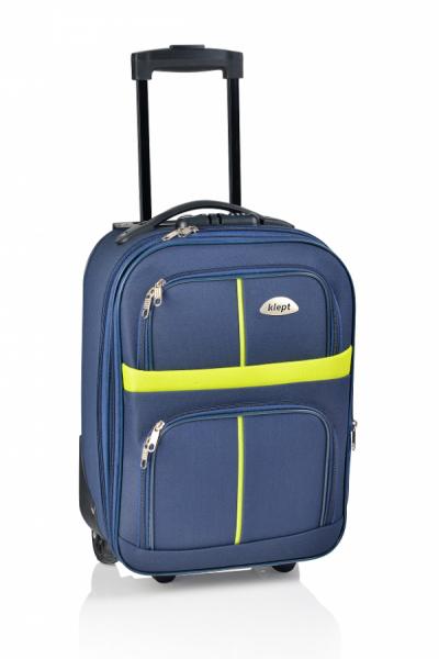 Klept Troler textil 2 roti Smart-42 Albastru cu verde 0
