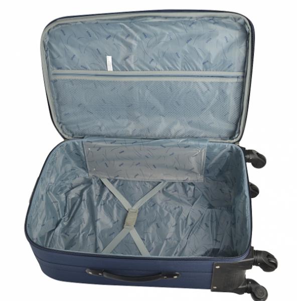 Klept Troler textil 4 roti FLY-55 Albastru cu verde
