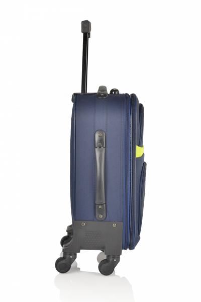 Klept Troler textil 4 roti Smart-55 Albastru cu verde 2