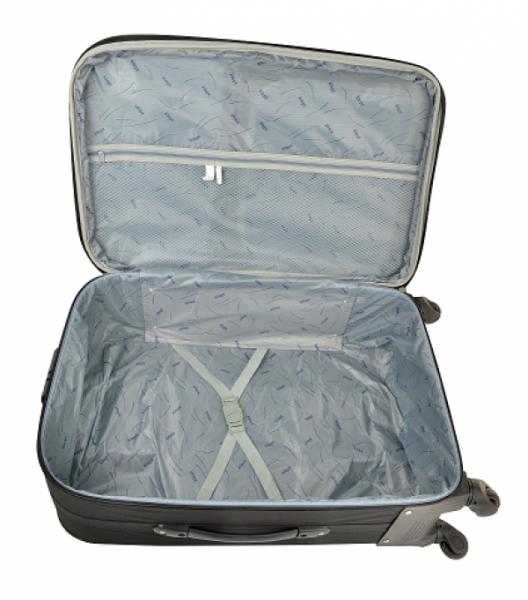 Klept Troler textil 4 roti Smart-65 Albastru cu verde 1