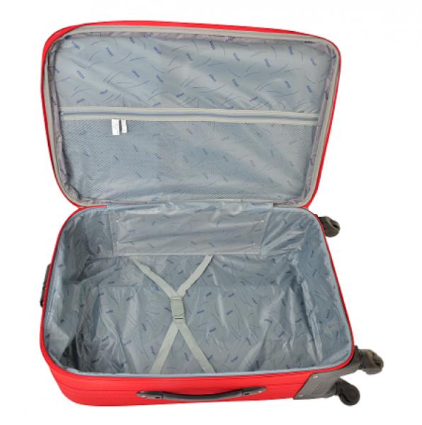 Klept Troler textil 4 roti Smart-75 Rosu cu negru 1