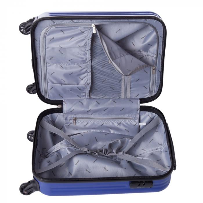 Troler Lamonza Fantasy albastru cu negru 55X31X22 cm 3