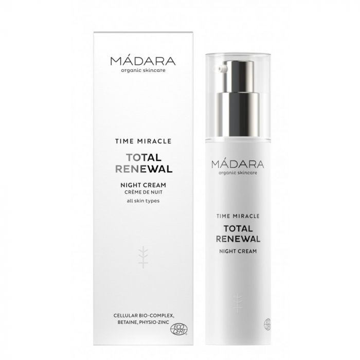 MADARA TIME MIRACLE TOTAL RENEWAL Cremă de noapte antirid 50ml inbagaj 0