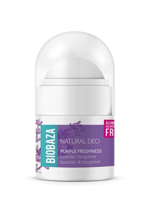 Mini deodorant natural pentru femei PURPLE FRESHNESS - 20ml 0