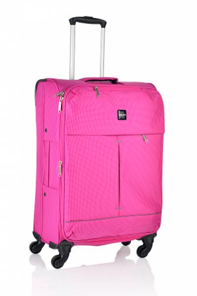Mirano Troler Textil 4 roti Malaga-65 roz 0