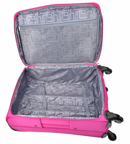 Mirano Troler Textil 4 roti Malaga-65 roz 1