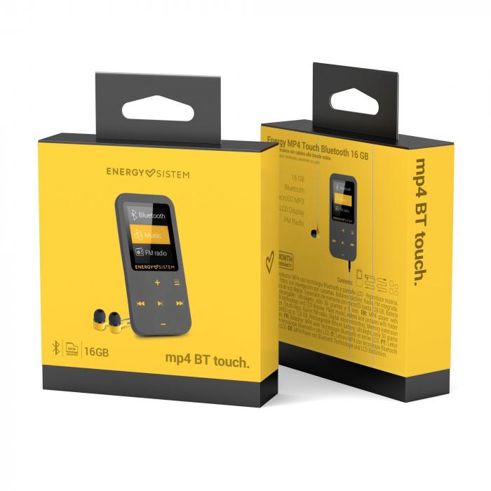 MP4 Player Energy Sistem TOUCH 8GB Bluetooth Negru/Coral inbagaj 5