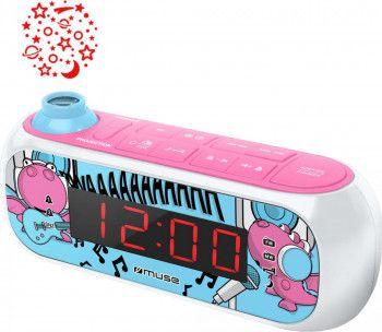 Radio cu ceas si holograma MUSE M-167 KDG, Proiectie ajustabila, 0.9 inch Red LED [0]