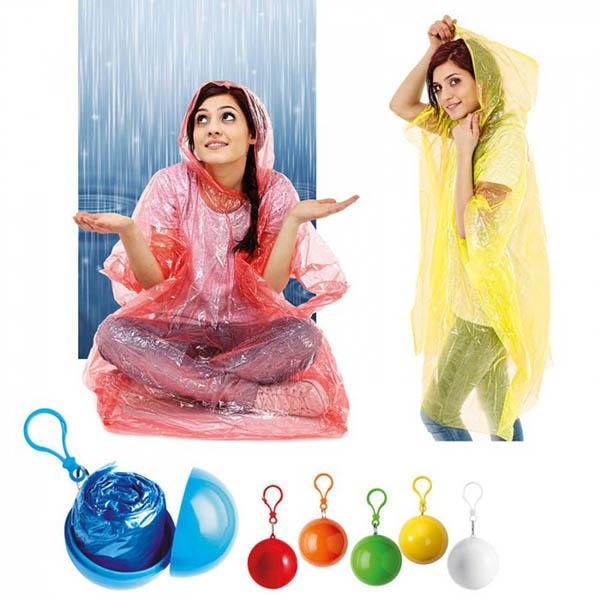 Pelerina de ploaie in bila cu carlig - Rosu 1