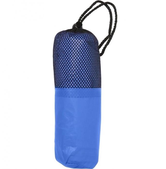 Poncho / pelerina de ploaie cu gluga - Albastra 0