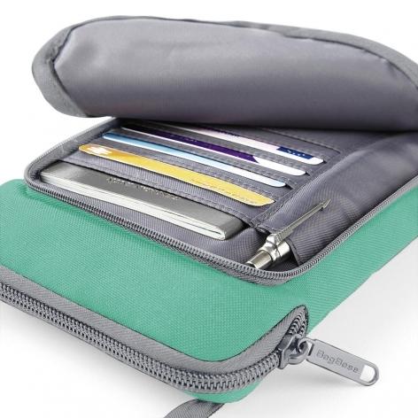Geanta-portofel pentru calatorii verde 2