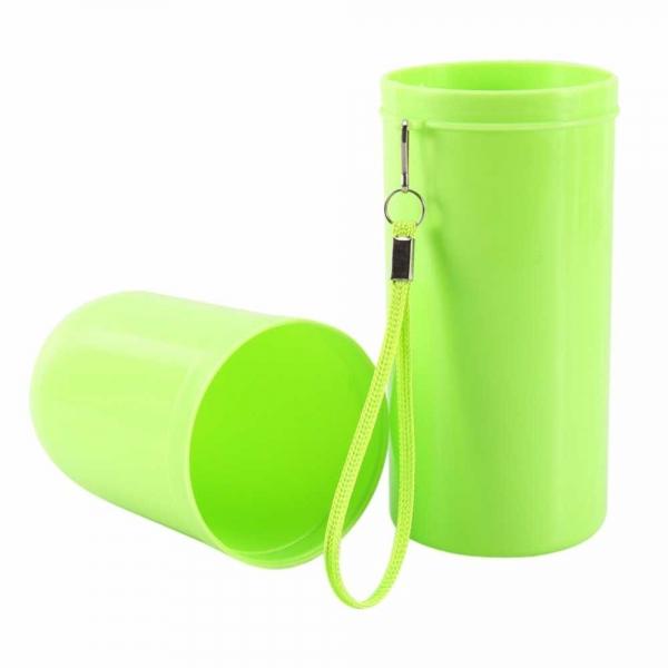 Recipient pentru periuta si pasta de dinti - Verde 1