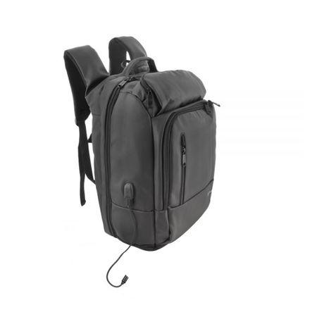 "Rucsac laptop Tellur Business XL, cu port USB, 17.3"", negru 3"