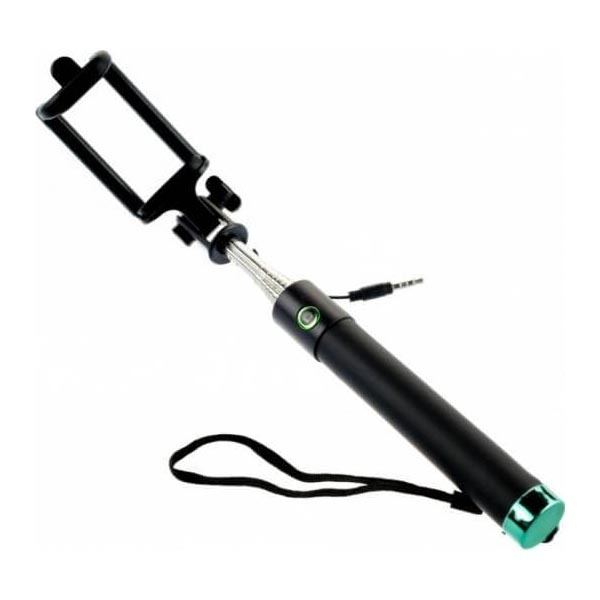 Premium Wired Selfie Stick Tellur M76CF, Green 0