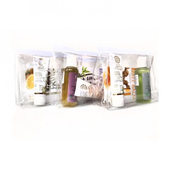 Set cosmetice cu gentuta cosmetice cadou (sampon, crema de maini, balsam de buze Miere) 1