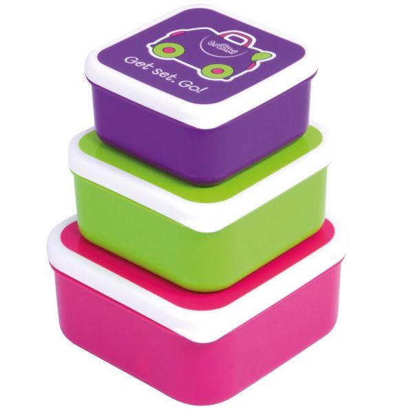 Set cutii pentru pranz Trunki - Roz 0