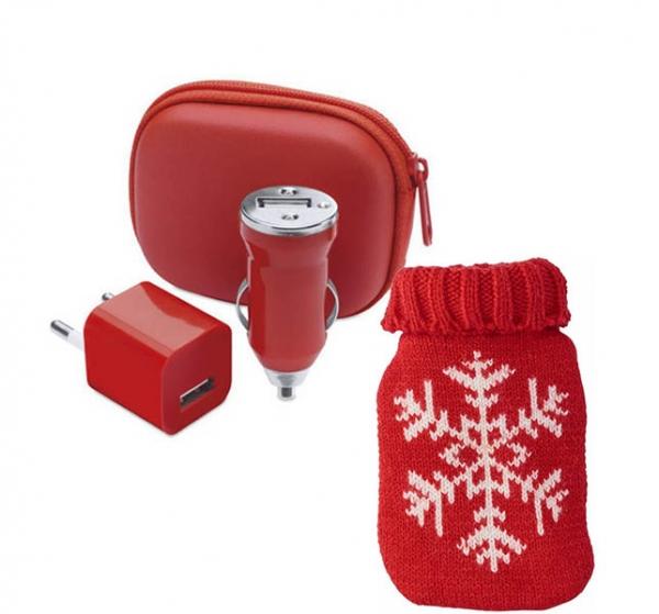 Set Traveler - Self heating pad si Set incarcare voiaj 0