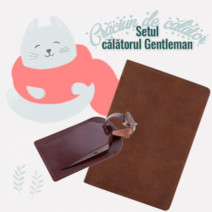 "Set Travel "" Calatorul Gentleman"" - Maro"