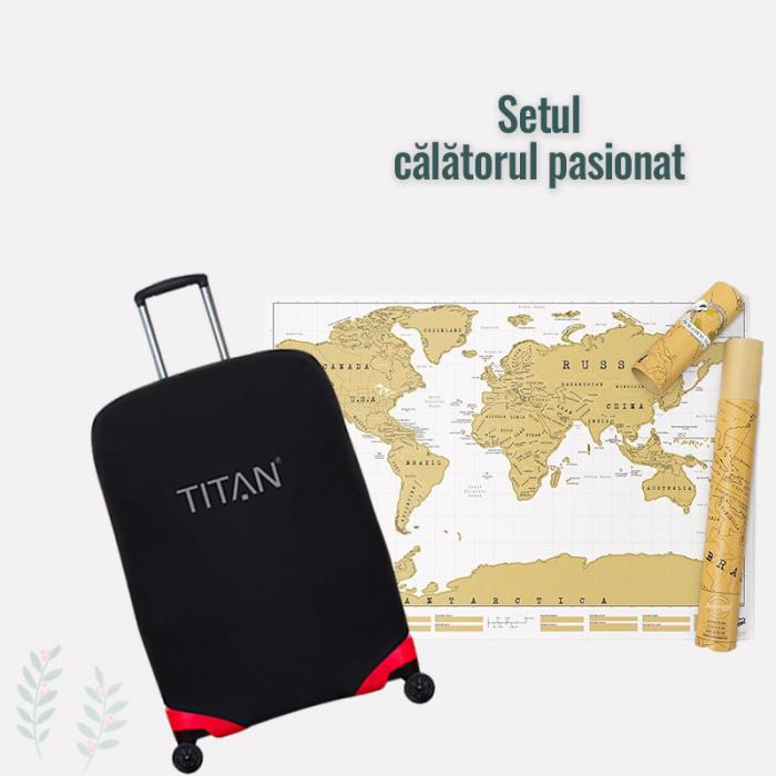 "Set travel ""Calatorul Pasionat"" - Alb"