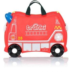 Valiza TRUNKI FRANK - Masina de Pompieri Rosu + Trunki Tidy Bag Blue 1