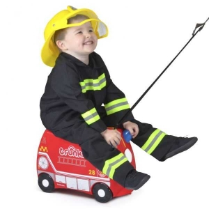 Valiza TRUNKI FRANK - Masina de Pompieri Rosu + Trunki Tidy Bag Blue 5