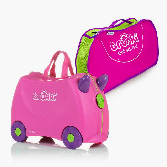 Set travel pentru copii - Valiza TRUNKI Trixie + Trunki Tidy Bag Pink 0