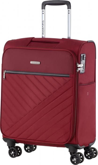 Set trolere Travelite JADE 4 roti 54cm, geanta de umar si rucsac (USB incorporat)