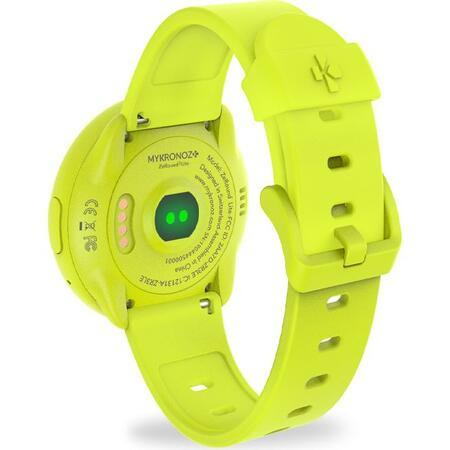 Smartwatch MyKronoz ZeRound 3 Lite Rezistent la apa  - Galben/ Galben [2]