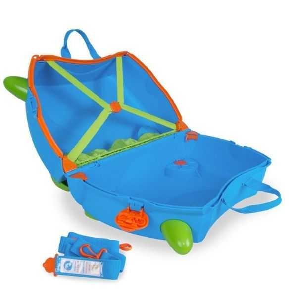 Set Valiza Trunki Terrance + Trunki Tidy Bag Blue 3