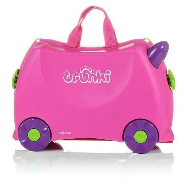Set travel pentru copii - Valiza TRUNKI Trixie + Perna de calatorie Yondi Pink 2