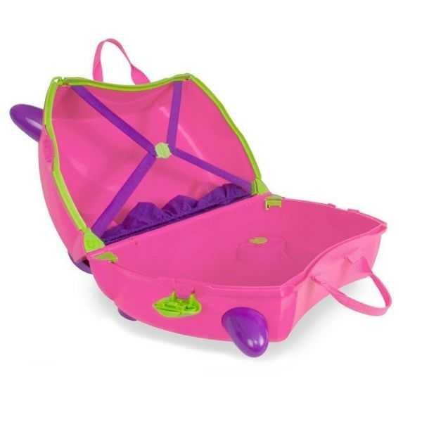 Set travel pentru copii - Valiza TRUNKI Trixie + Perna de calatorie Yondi Pink 3