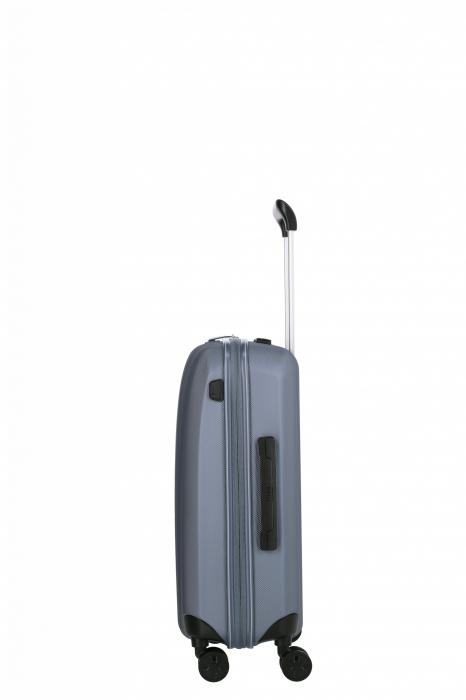 Troler de cabina cu USB - TITAN XENON 4 roti 55 cm (S) - Albastru 12