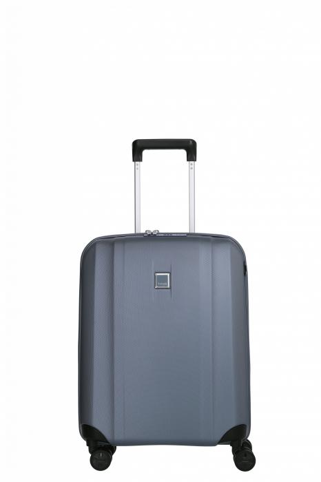 Troler de cabina cu USB - TITAN XENON 4 roti 55 cm (S) - Albastru 0