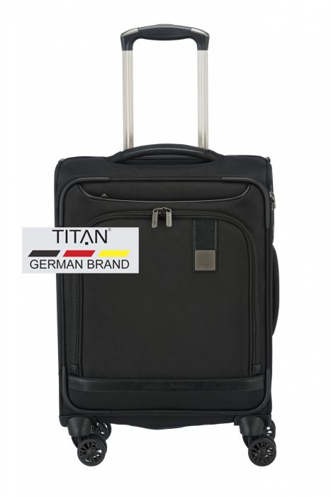 Troler de cabina Titan CEO 4 roti 55 cm - Negru 0