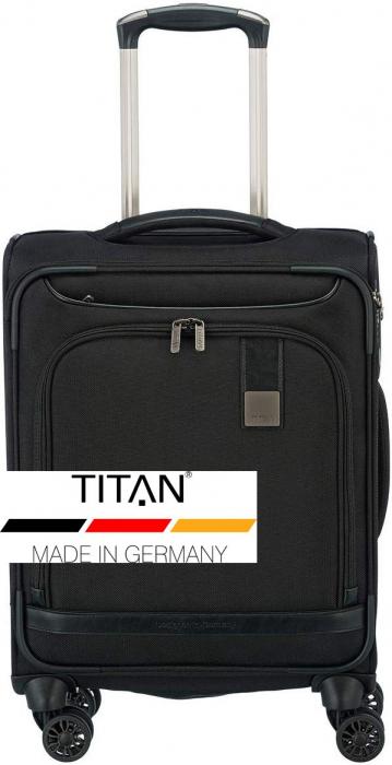 Troler de cabina Titan CEO 4 roti 55 cm - Negru 6