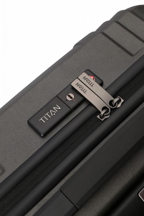 Troler de cabina TITAN X-RAY PRO S ( 40 x 55 x 20 cm) - Amprenta digitala si USB inclus 11
