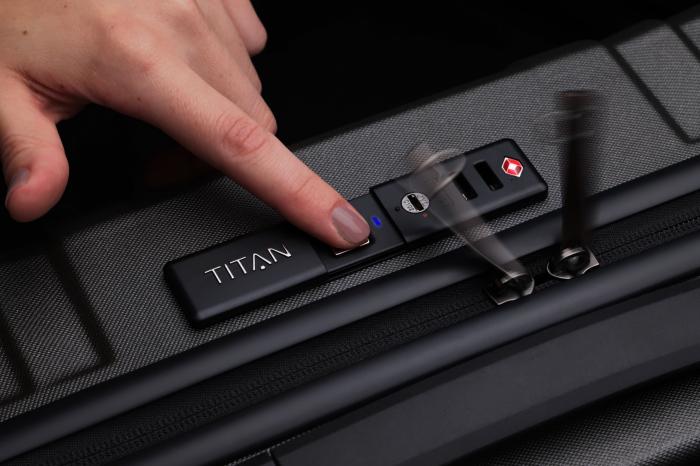 Troler de cabina TITAN X-RAY PRO S ( 40 x 55 x 20 cm) - Amprenta digitala si USB inclus 13