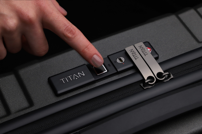 Troler de cabina TITAN X-RAY PRO S ( 40 x 55 x 20 cm) - Amprenta digitala si USB inclus 12