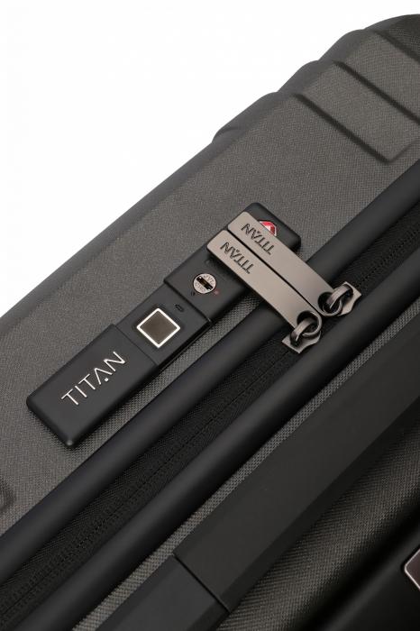 Troler de cabina TITAN X-RAY PRO S ( 40 x 55 x 20 cm) - Amprenta digitala si USB inclus 10